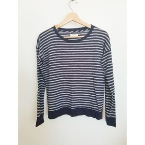 Madewell Long Sleeve Navy and White Stripe - XS